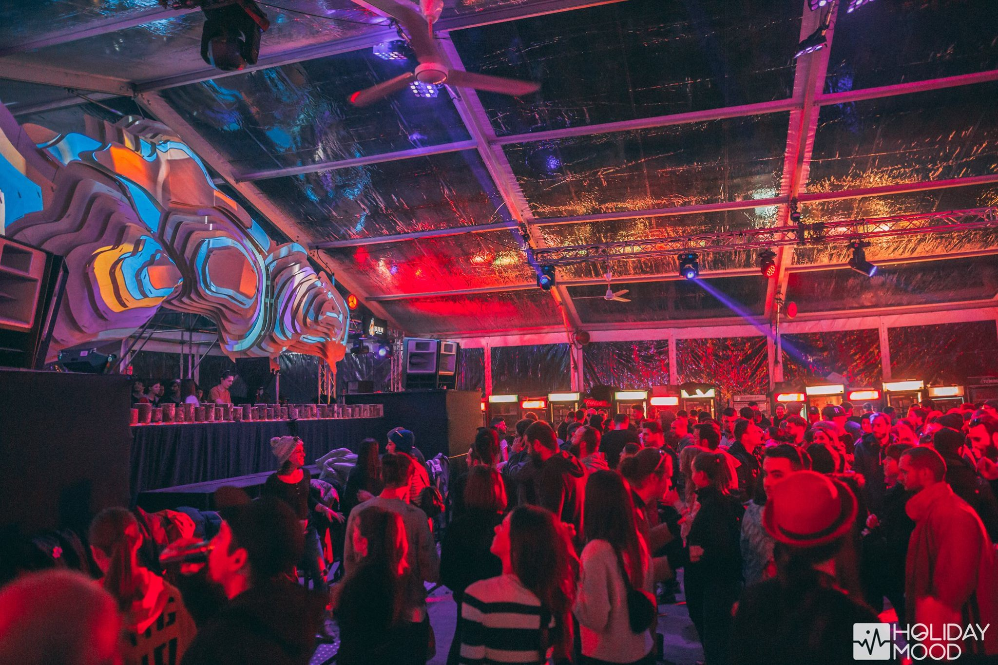 Party Holiday Mood Winter Edition 2018 Setup Sunet Lumini Music Gear  (13)