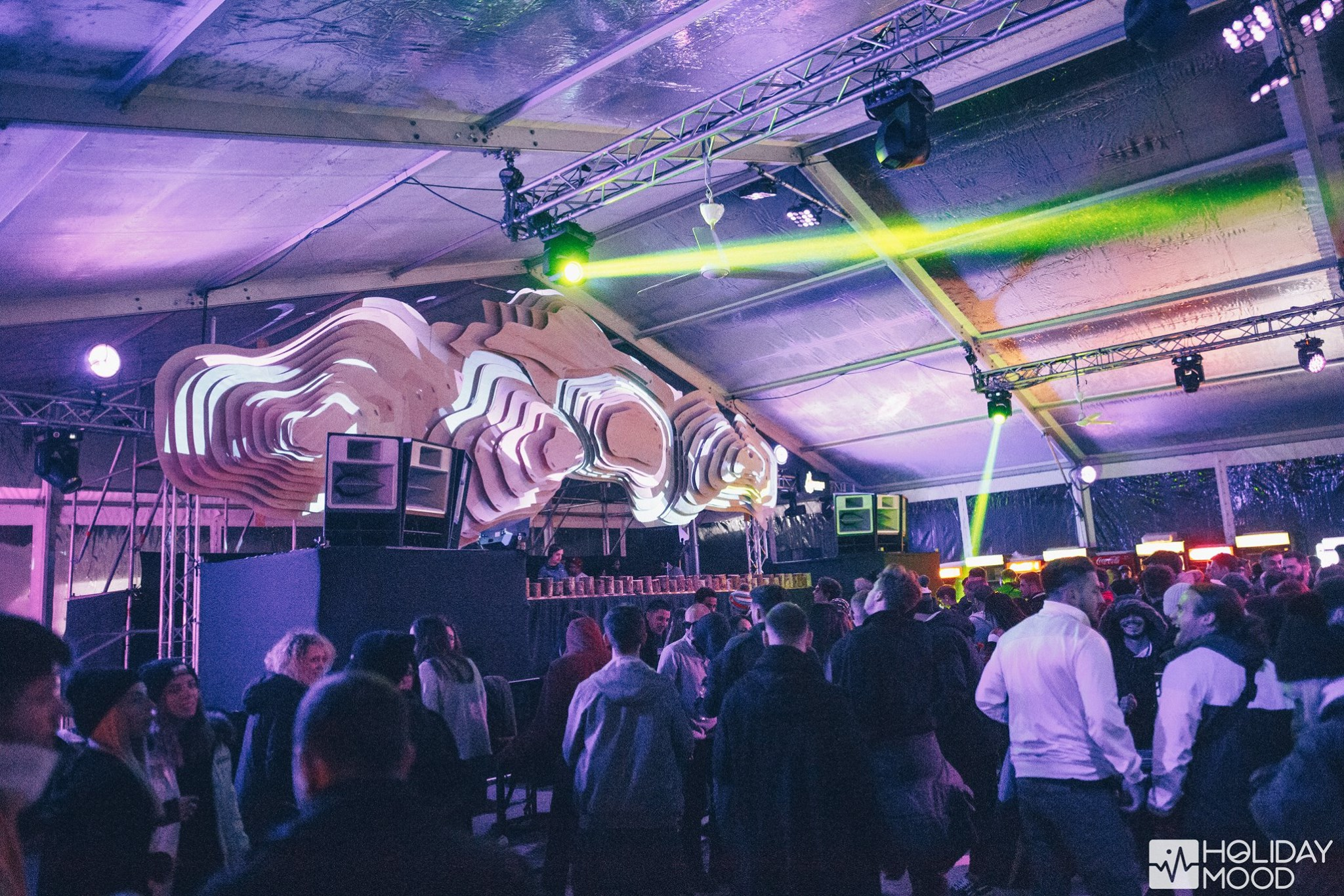 Party Holiday Mood Winter Edition 2018 Setup Sunet Lumini Music Gear  (9)